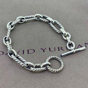 David Yurman Cushion Link Bracelet & Blue Sapphire